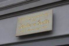 Eerste ontmoeting tussen Goethe en Schiller in Rudolstadt