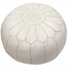 nuLOOM Handmade Casual Living Leather Moroccan Ottoman Pouf - Overstock™ Shopping - Great Deals on Nuloom Ottomans