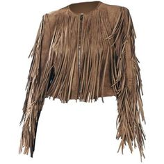 BCBGMAXAZRIA Fringe Suede Leather Brown Leather Jacket (33825 RSD) ❤ liked on Polyvore featuring outerwear, jackets, fringe jackets, long sleeve jacket, brown fringe jacket, genuine leather jackets and breathable jacket