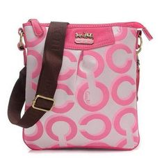 Look Here! Coach Swingpack In Signature Medium Pink Crossbody Bags CEW Outlet Online Check out the website to see Laura Lee, Coach Purses, Coach Bags, Coach Handbags, Danielle Haim, Coach Swingpack, I Want Love, Cheap Coach, Coach Outlet
