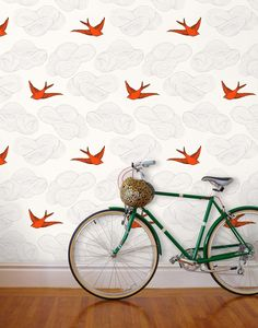 Peruse modern wallpaper designs: from hand-painted wallpaper…