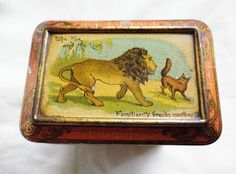 Aesop's Fables tin, lid  1890