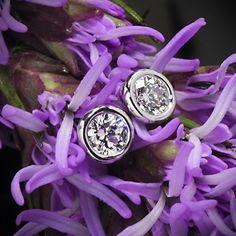 Handmade Full Bezel Diamond Earrings--Ready Set To Go | 1537