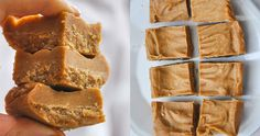 Healthy fudge with peanut butter Best Vegan Recipes, Raw Food Recipes, Baking Recipes, Dessert Recipes, Favorite Recipes, Healthy Sweets, Healthy Baking, Healthy Fudge, Healthy Food