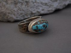 Turquoise ring.turquoise.natural by CopurogluJewelry on Etsy