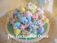 the enchanted oven: Pastel Easter popcorn