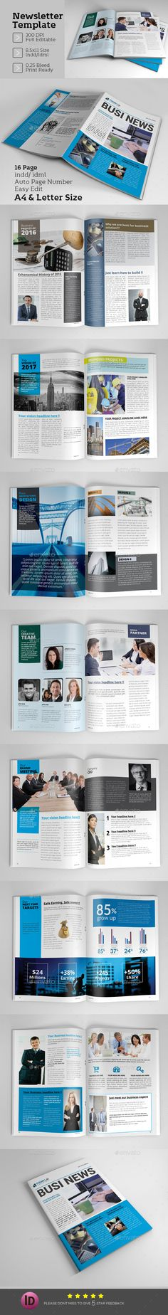 Newsletter Template  - Newsletters Print Templates Download here : https://graphicriver.net/item/newsletter-template-/16565780?s_rank=6&ref=Al-fatih