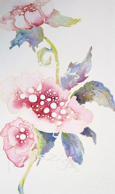 Pink Poppi fine art flower portrait watercolor print by lizdezign on Etsy. Watercolor Portraits, Watercolor And Ink, Watercolor Flowers, Watercolor Paintings, Watercolours, Art Aquarelle, Poster S, Chiaroscuro, Arte Floral
