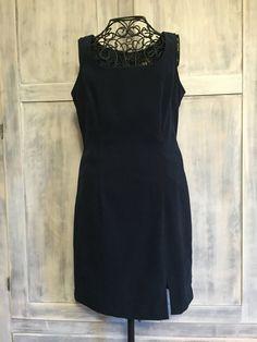 Vintage Dark Navy Blue Dress Scarlet Brand by VintageNerdBoutique