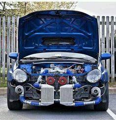 Subaru WRX STi bugeye very modified!