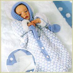 nid d'ange bébé tricot gratuit - Recherche Google