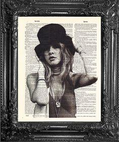 Stevie Nicks Bohemian Decor Fan Gift Cool by LaserPrintStudio