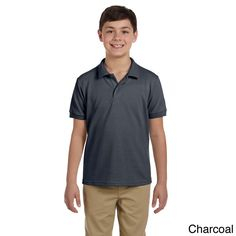 Gildan Youth DryBlend Pique Sport Shirt