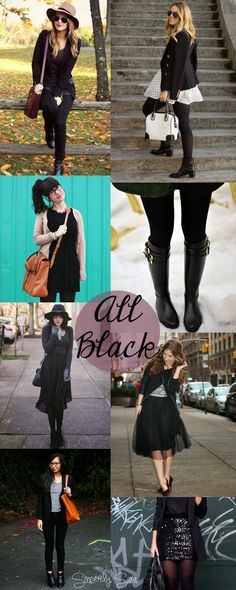 Sincerely, Sara | Inspiration Is Everywhere...: Inspiration: All Black Outfits