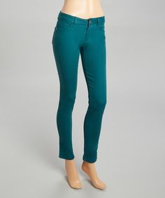 Another great find on #zulily! Teal Skinny Jeans #zulilyfinds