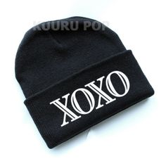 EXO XOXO Beanie  A must-have for all EXO fans, this beanie is perfect for keeping comfy and warm in style. It features 'XOXO' in bold white letters.  - One size only. - Beanies should fit everyone age 10 and up (including adults), but are not recommended for larger heads. - High-quality print.