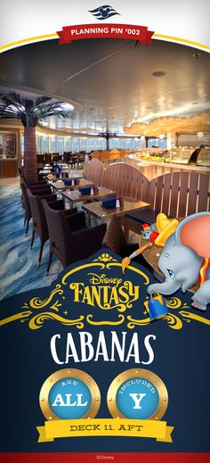 Disney Cruise Line Planning Pins | Disney Fantasy: Cabanas