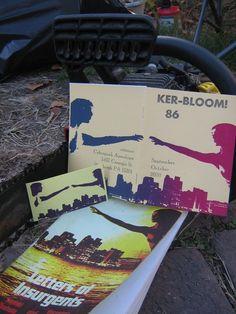 Ker-bloom! A fine letterpress artist who does custom work. Letterpress zine, $3