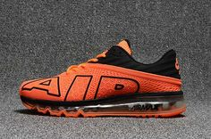 Nike Air Max 2017.9 Flair Large Air Design Orange Black Men Shoe