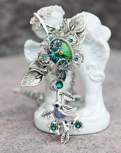 Browse unique items from DreamCloudJewelry on Etsy, a global marketplace of handmade, vintage and creative goods. Key Jewelry, Emerald Jewelry, Jewelry Accessories, Jewelry Necklaces, Key Necklace, Green Necklace, Marcasite Jewelry, Magical Jewelry, Keys Art