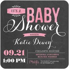 Pink and Black Baby Shower Invitations: Today's Staff Picks on the Tinyprints Blog