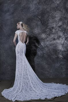 Our Elda! #weddingdress #vintage #openback #lace Couture Wedding Gowns, Wedding Dresses, Fairytale Bridal, Bridal Collection, Body Shapes, Fairy Tales, Lace, Vintage, Fashion