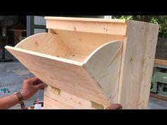 Attractive DIY ideas for reusing old wooden pallets // How to build outdoor floor storage cabinets, - YouTube Shoe Storage Design, Shoe Cabinet Design, Wooden Pallets, Wooden Diy, Diy Wood Projects, Wood Crafts, Easy Garage Storage, Furniture Hinges, Modern Exterior Doors