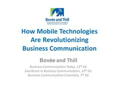 How Mobile Technology Is Revolutionizing Business Communication Powerpoint Program, Mobile Business, Business Writing, Mobile Technology, Mobile Marketing, Textbook, Revolution, Communication, Presentation