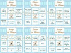 bingo para chá de bebê lista de presentes                              …