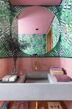 Elle Decor, Powder Room, Bathtub, Mirror, Furniture, Bathrooms, Kitchen, Sao Paulo, Log Projects