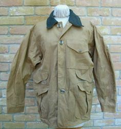 3fd8d57f981ee USED Vintage 80's Style 66 FILSON TIN CLOTH Field Jacket Hunting Coat; Size  42