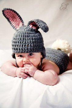 Crochet Bunny Hat - Eco-Friendly Crochet Easter Bunny Hat