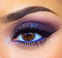 A lil blue and sparkle brings out the eyes