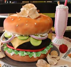 Another Cheese Burger Cake
