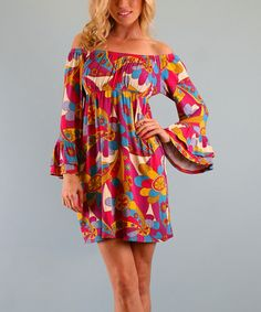 Look what I found on #zulily! Fuchsia Brittany Pinwheel Dress by Voom #zulilyfinds Why not bring the 70's back in style? :)