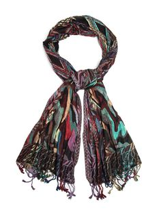 Bohomonde Devi Scarf, Woven Reversible Striped Pashmina Shawl, Hand Made in India Tapestry: