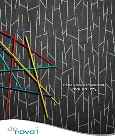 Graphic Design and Photography for DeNovo Wall's Izzy™ Wall Covering Advertisement in the June 2013 issue of Interior Design Magazine [Bcreative - Marketing Support Services]