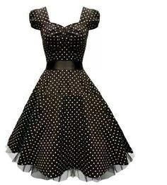 Beautiful poka dot dress for a night out!