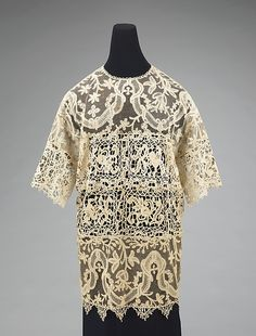 Evening overblouse. Callot Soeurs for Rita de Acosta Lydig, made with vintage lace.