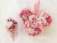 某ねずみさんキャラクターの形のボールブーケ&ブートニア アーティフィシャルフラワー ys floral deco @ウェスティンホテル東京