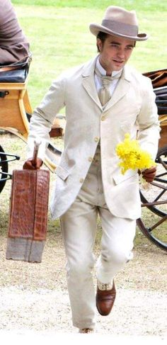 As Georges Duroy in Bel Ami.  Can't wait to see it in June.