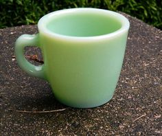 Fire King Jadeite Jadite Restaurant Ware Hot Chocolate Coffee Mug C Glass #FireKing