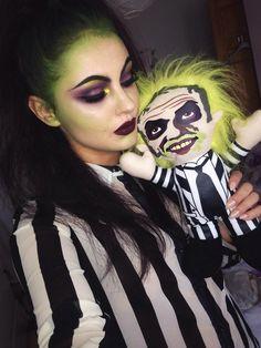 Imagen de beetle juice, Halloween, and makeup                                                                                                                                                                                 Más