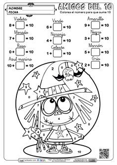 These are the Shichida Flashcards Benefits on your Gifted Child Math Activities For Kids, Fun Math Games, Preschool Math, Math Classroom, Halloween Worksheets, Halloween Math, Fun Worksheets, Math Challenge, Math Work