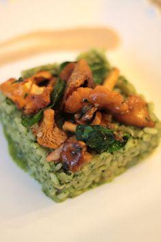 recette de risotto aux girolles chanterelles du chef Franck Cerutti, un délice ! So delicious !