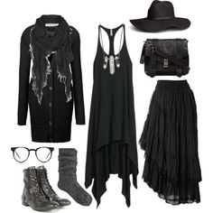 Wood witch wardrobe #3 by n-nyx on Polyvore featuring H&M, Gestuz, Raxevsky, River Island, H by Hudson, Proenza Schouler, Zoë Chicco, AllSaints and Spitfire
