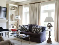 Love the blue couch. Grace Notes | At Home Arkansas