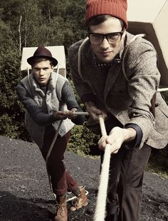 ✖ FASHION EDITORIAL ✖ The Gallant Hiking Men by Thi-Thi Oskar, via Behance
