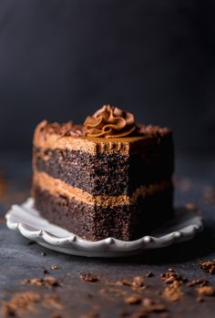 Chocolate Toffee Crunch Cake – fudgy chocolate cake lightly spiced with cinnamon paired with crunchy toffee bits and silky smooth chocolate buttercream frosting. A new layer cake recipe by our contributor, Tessa…View Post Only Chocolate Cake Recipe, Chocolate Fudge Frosting, Decadent Chocolate Cake, Chocolate Toffee, Fudge Cake, Brownie Cake, Brownies, Decadent Cakes, Chocolate Treats