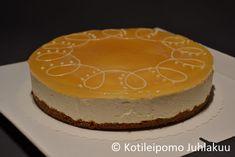 Jouluinen omena-rahkakakku Cheesecake, Desserts, Food, Tailgate Desserts, Deserts, Cheesecakes, Essen, Postres, Meals